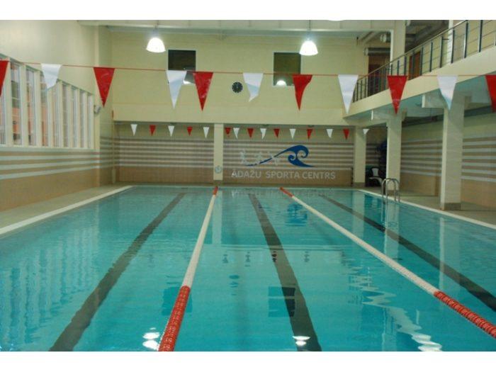 Ādažu Sporta centra baseins bez peldētājiem
