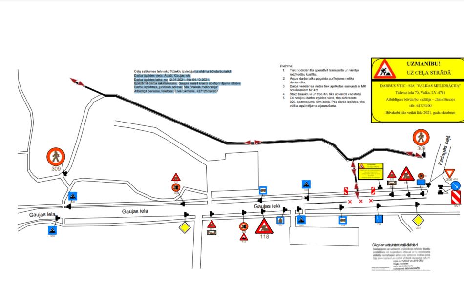satiksmes organizācijas shēmas attēls
